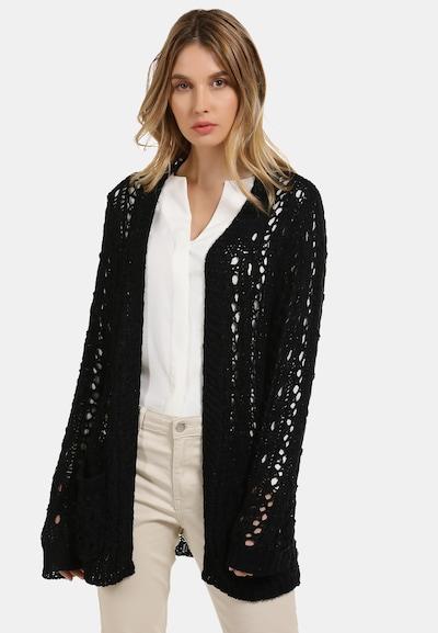 Usha Strickjacke in schwarz, Modelansicht