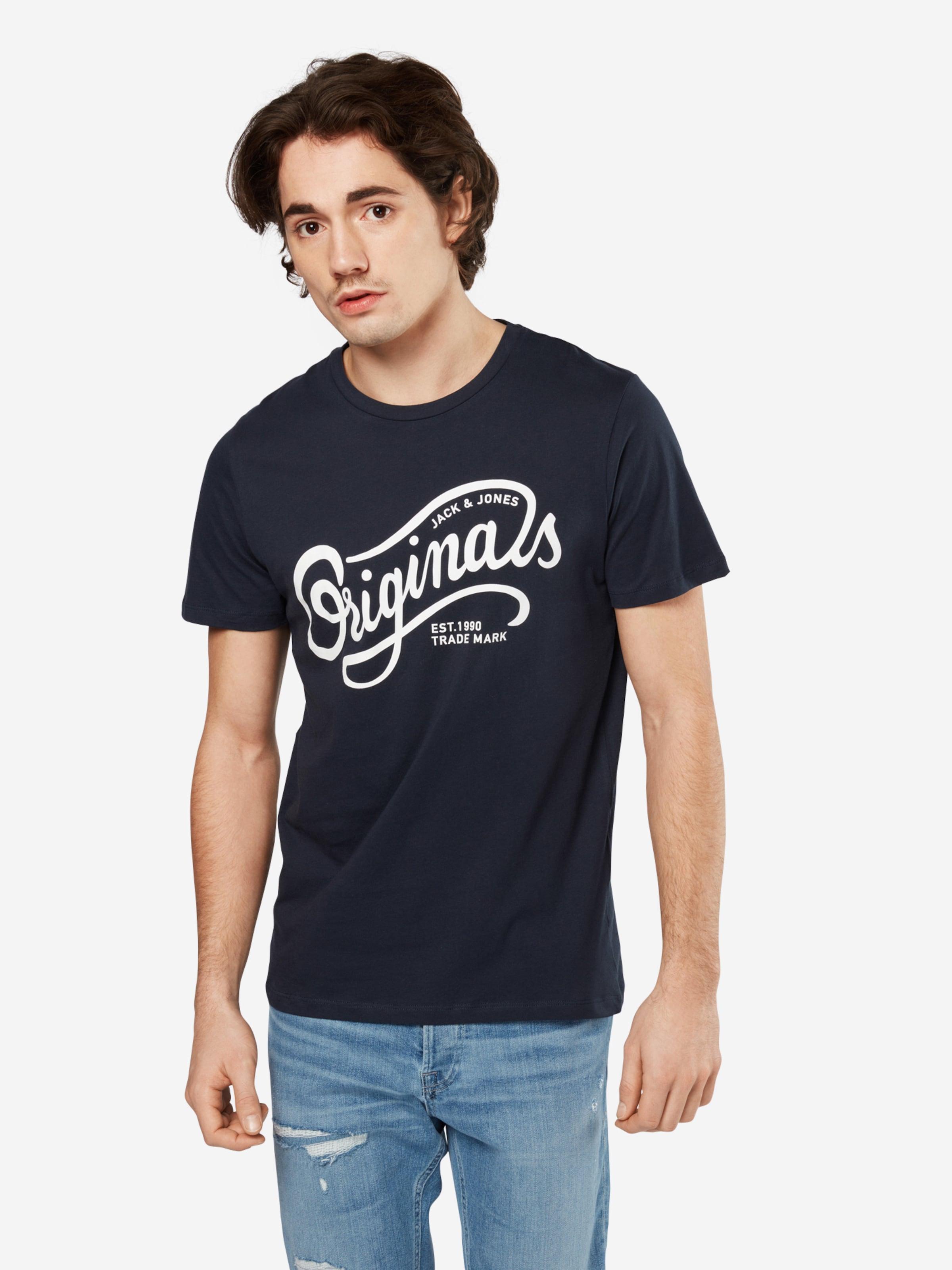 JACK & JONES T-Shirt 'JORTRAFFIC TEE SS CN DEC' Günstig Kaufen Auslassstellen Billige Wiki Günstigstener Preis Günstiger Preis TggOu