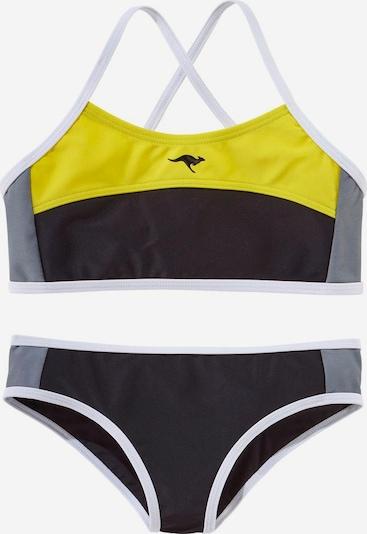 KangaROOS Bustier-Bikini in gelb / schwarz, Produktansicht