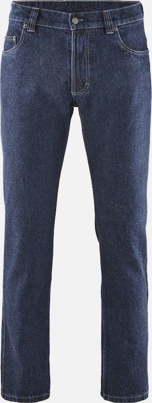 HempAge Jeans in blue denim: Frontalansicht