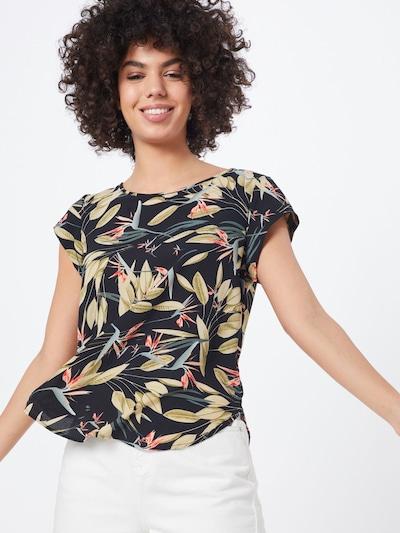 ONLY Blusa en mezcla de colores / negro, Vista del modelo