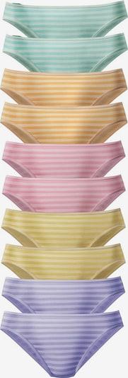 GO IN Bikinislips (10 Stück), in verschiedenen Farben mit Streifen in mischfarben, Produktansicht