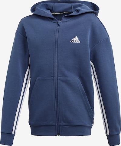 Bluză cu fermoar sport ADIDAS PERFORMANCE pe albastru royal / alb, Vizualizare produs