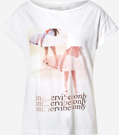 Tricou s.Oliver pe culori mixte / alb, Vizualizare produs