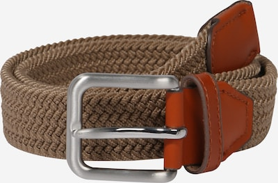 Jack & Jones Junior Riem 'Jacspring Woven Belt Jr' in de kleur Bruin / Roestrood / Zilver, Productweergave