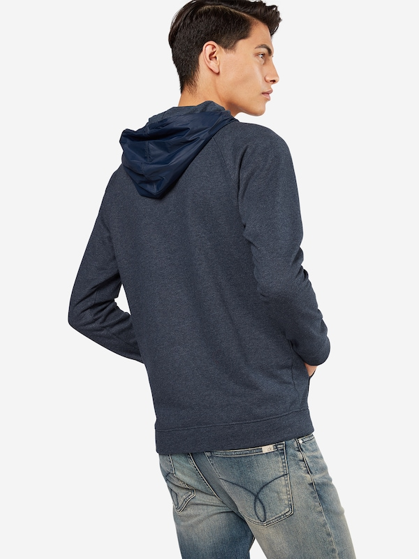 TOM TAILOR DENIM Sweatshirt 'raglan hoody with nylonmix'