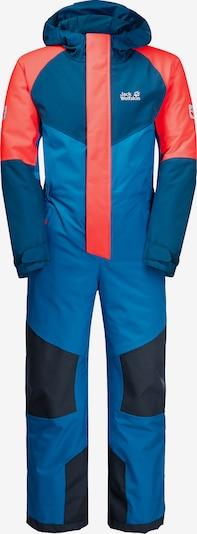 JACK WOLFSKIN Schneeanzug in blau / kobaltblau / lachs, Produktansicht