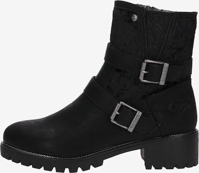 Dockers by Gerli Boots in schwarz / silber: Seitenansicht