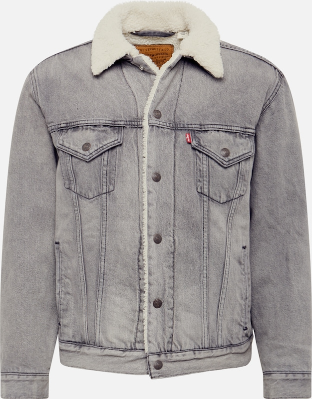LEVI'S Jacke 'VIRGIL SHERPA TRUCKER' in grey denim, Produktansicht