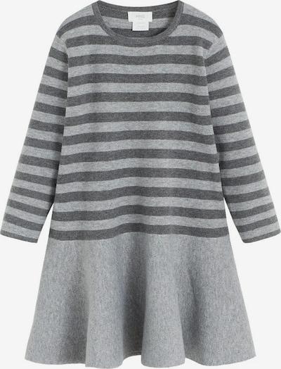 MANGO KIDS Robe 'Ceci' en gris basalte / gris chiné, Vue avec produit