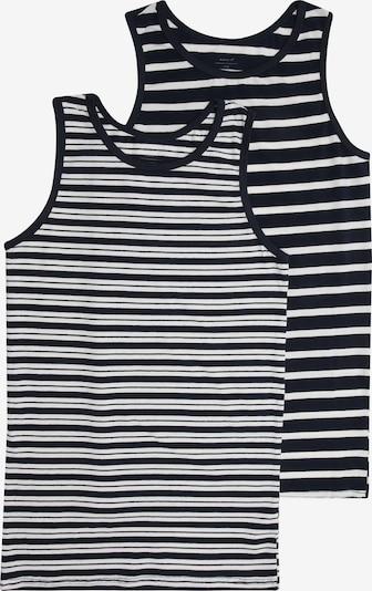 NAME IT Spodnja majica | črna / bela barva, Prikaz izdelka