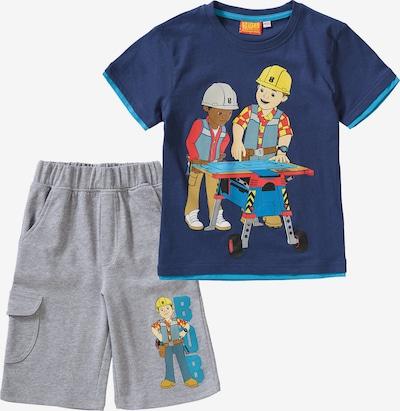 BOB DER BAUMEISTER Set T-Shirt + Sweatshorts in blau / mischfarben, Produktansicht