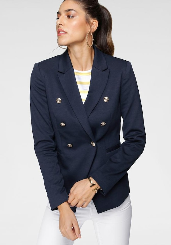 Tom Tailor Polo Team Kurzblazer in navy / gold, Modelansicht