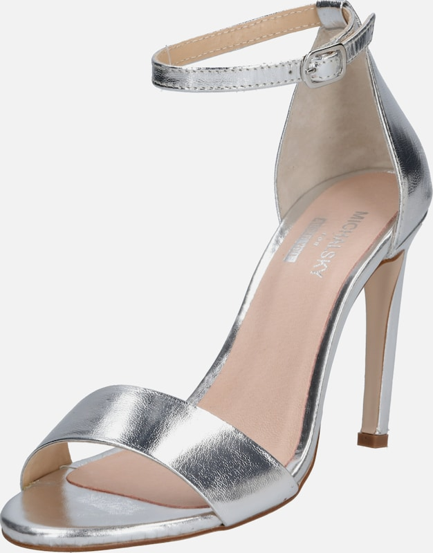 MICHALSKY FOR ABOUT YOU Sandale 'Holly sandal' in silber: Frontalansicht