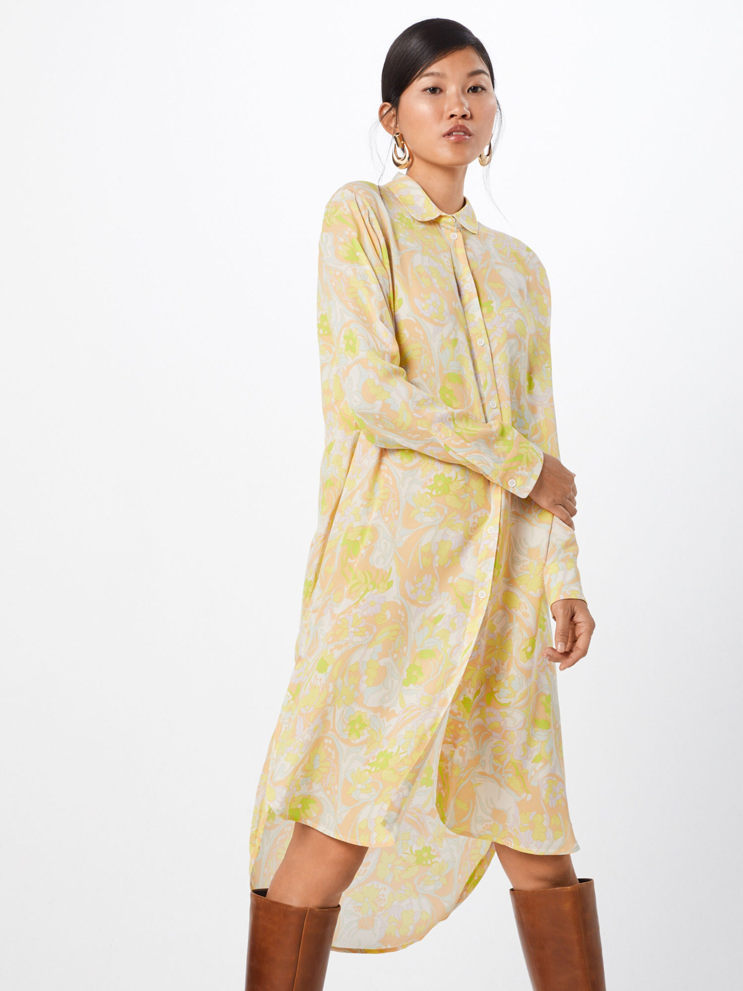 In 'rissy' GelbWeiß GelbWeiß In 'rissy' Kleid Samsoeamp; Samsoeamp; Kleid Samsoeamp; TJ1KlFc