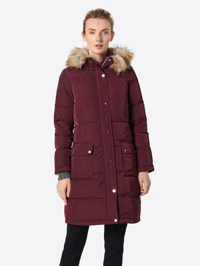 VILA Manteau d'hiver 'Vicalifornia' en lie de vin, Vue avec modèle