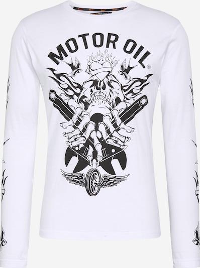 BRAVE SOUL Tričko 'OIL' - černá / bílá, Produkt