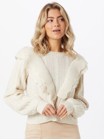 PIECES Pullover in beige, Modelansicht