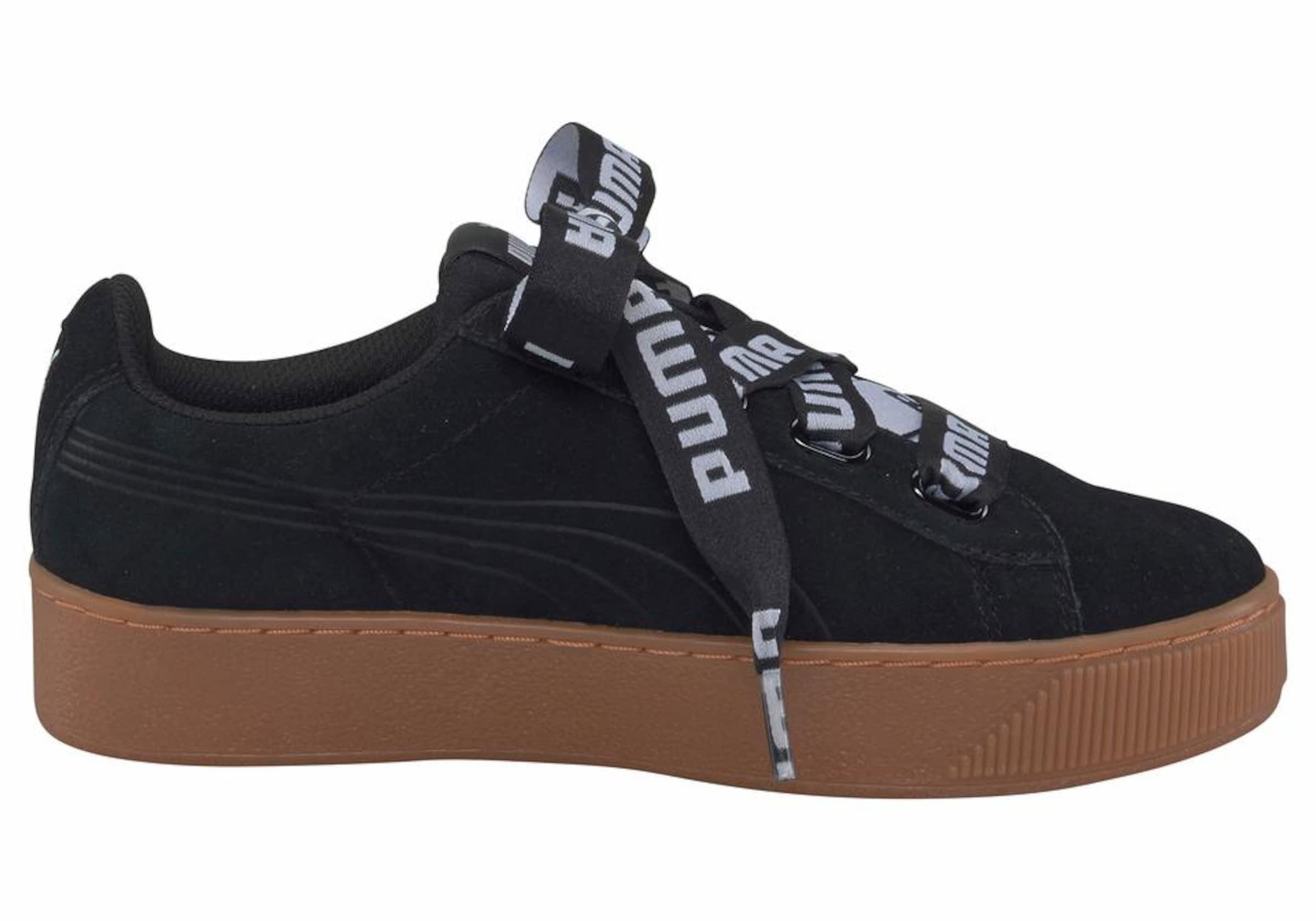 In Ribbon Plateausneaker Platform Bold' Puma Schwarz 'vicky rxBeCod