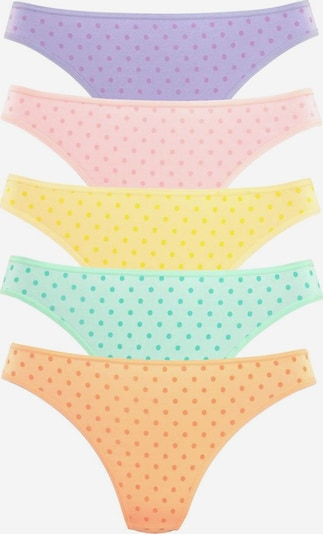 GO IN Strings (10 Stück) in gelb / mint / lila / orange / rosa, Produktansicht