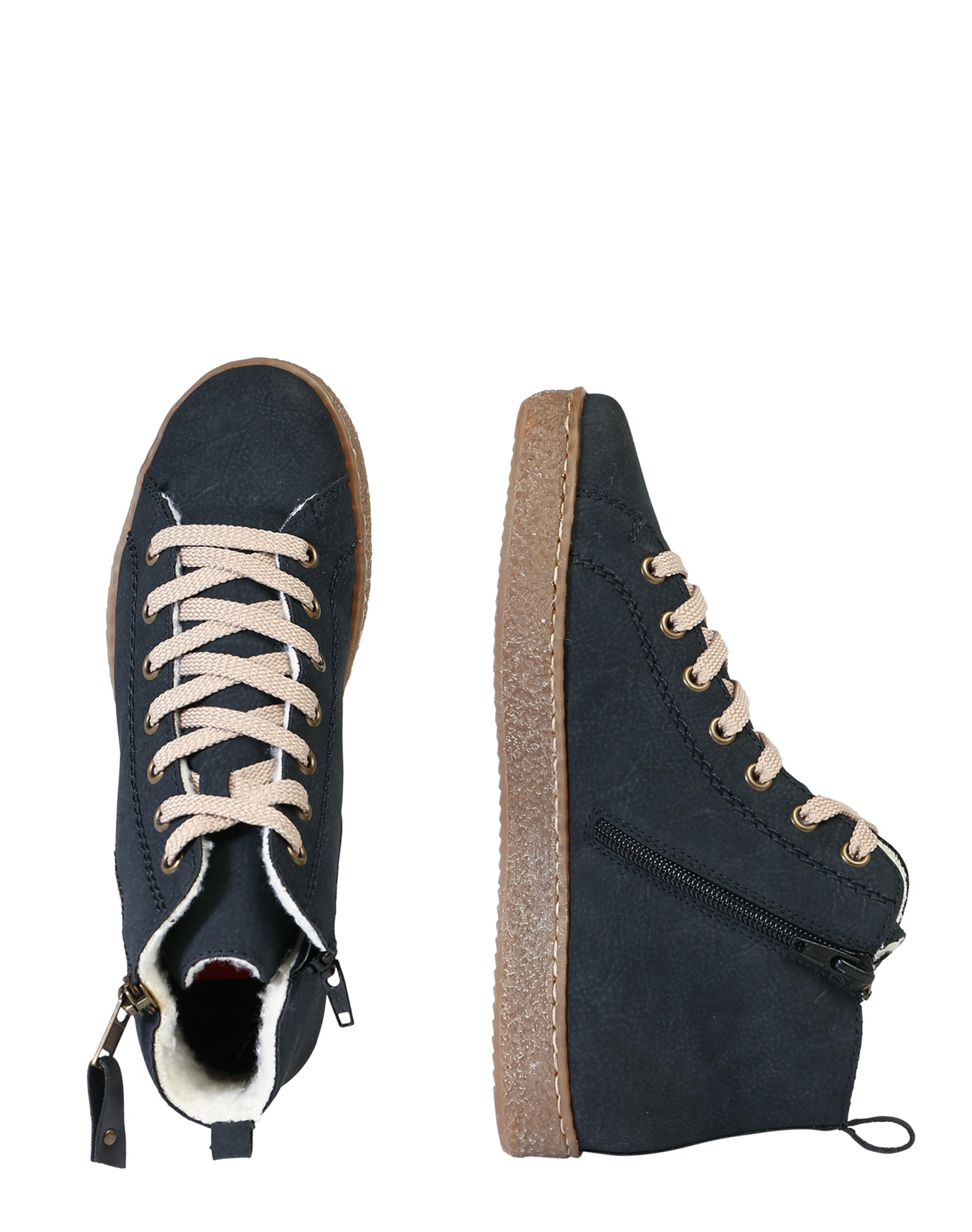 RIEKER Sneaker High in Leder-Optik Rabatt Echt Spielraum Store lMd9RE