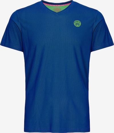 BIDI BADU T-Shirt Ted Tech mit klassischem V-Ausschnitt in blau, Produktansicht