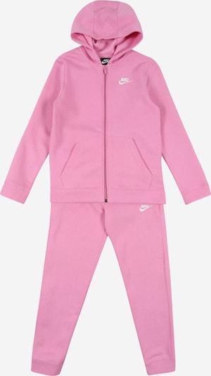 Laisvalaikio kostiumas iš Nike Sportswear , spalva - rožių spalva / balta, Prekių apžvalga