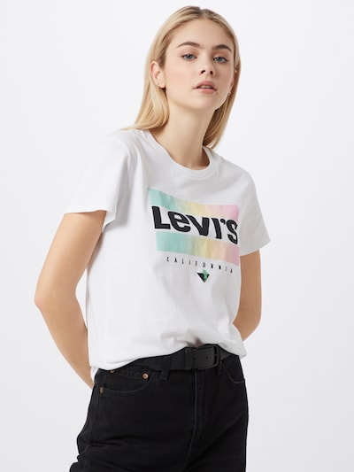 LEVI'S Shirt 'THE PERFECT TEE' in weiß: Frontalansicht