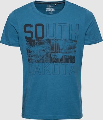 s.Oliver RED LABEL Shirt in Hemelsblauw / Zwart