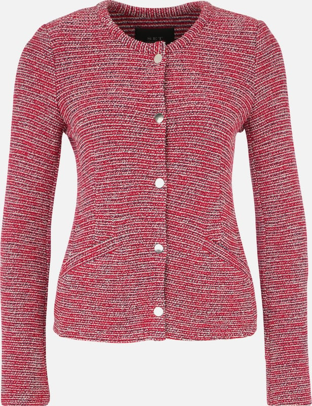 Set Jacket Patterned With Button Tape
