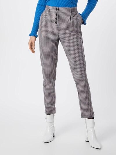 TOM TAILOR Damen - Hosen 'checked loose fit pants Trousers 1/1' in beige / mischfarben, Modelansicht