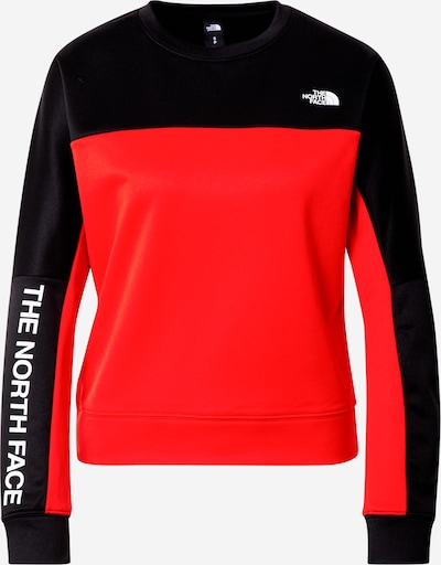 THE NORTH FACE Sport-Sweatshirt in orangerot / schwarz / weiß, Produktansicht
