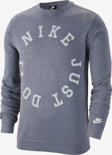 NIKE Sweatshirt in grau / weiß, Produktansicht