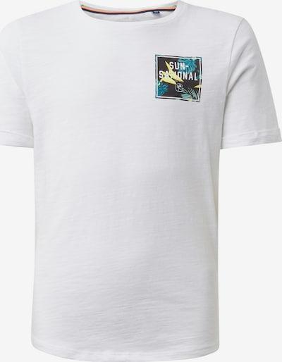 TOM TAILOR T-Shirt in gelb / petrol / schwarz / weiß, Produktansicht