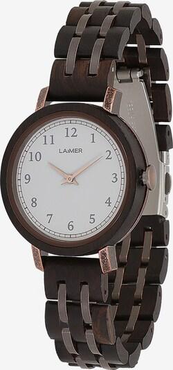 LAiMER Damen Armbanduhr Holzuhr 'Emma' in dunkelbraun, Produktansicht