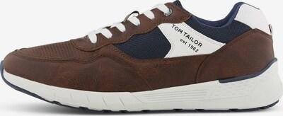 TOM TAILOR Sneaker in blau / braun / weiß, Produktansicht