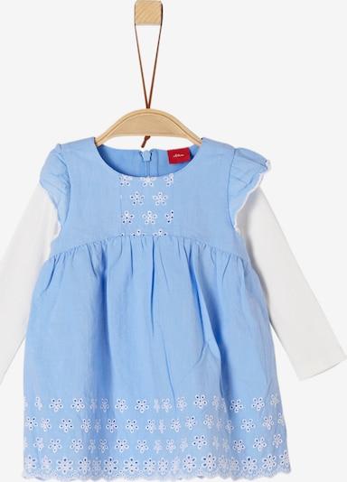 s.Oliver Junior Kleid in hellblau / weiß, Produktansicht