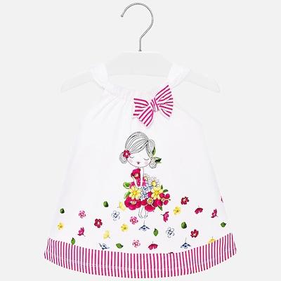 Mayoral Jerseykleid in pink / weiß, Produktansicht