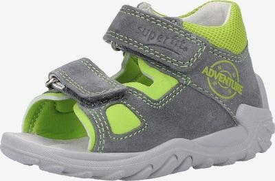 SUPERFIT Sandalen in grau / limette, Produktansicht