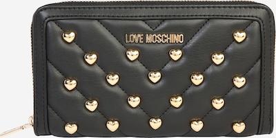 Love Moschino Geldbörse 'MATT NAPPA PU NERO' in gold / schwarz, Produktansicht