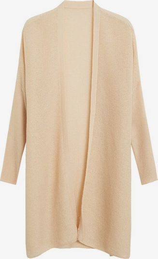 MANGO Prehodna jakna | bež barva: Frontalni pogled