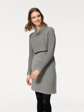 heine Kootud kleit, värv hall