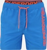 Superdry Badeshorts 'STATE VOLLEY' in blau / orange