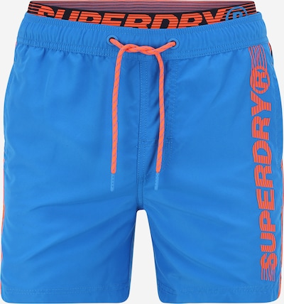 Superdry Badeshorts 'STATE VOLLEY' in blau / orange: Frontalansicht