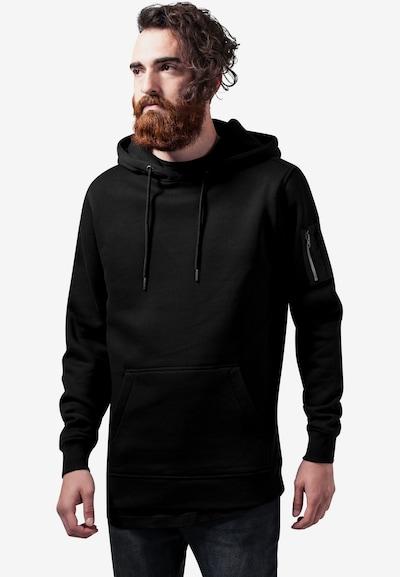 Urban Classics Sweat-shirt en noir, Vue avec modèle