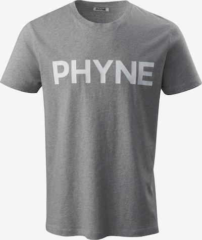 PHYNE T-Shirt in graumeliert / weiß, Produktansicht