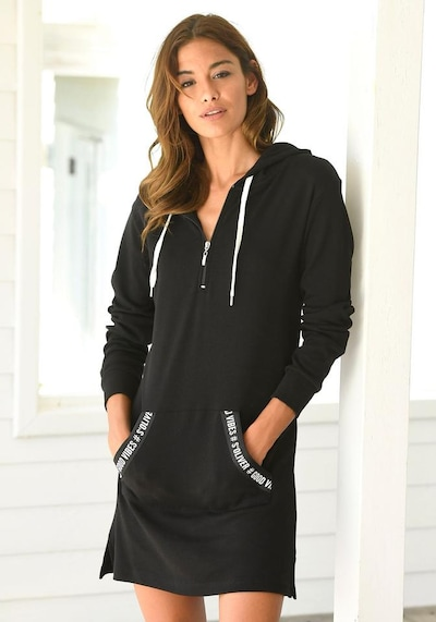 s.Oliver Bodywear Sweatkleid in schwarz, Modelansicht