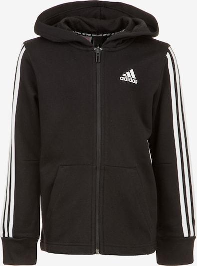 Sportinis džemperis 'YB MH 3S FZ' iš ADIDAS PERFORMANCE , spalva - juoda / balta, Prekių apžvalga