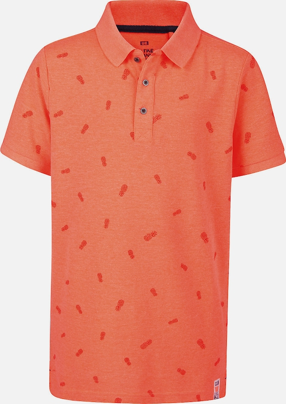 WE Fashion Poloshirt in orange / dunkelorange, Produktansicht