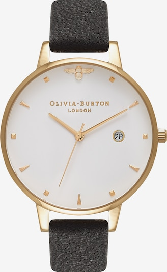 Olivia Burton Damenuhr 'Queen Bee' in gold / schwarz / weiß, Produktansicht